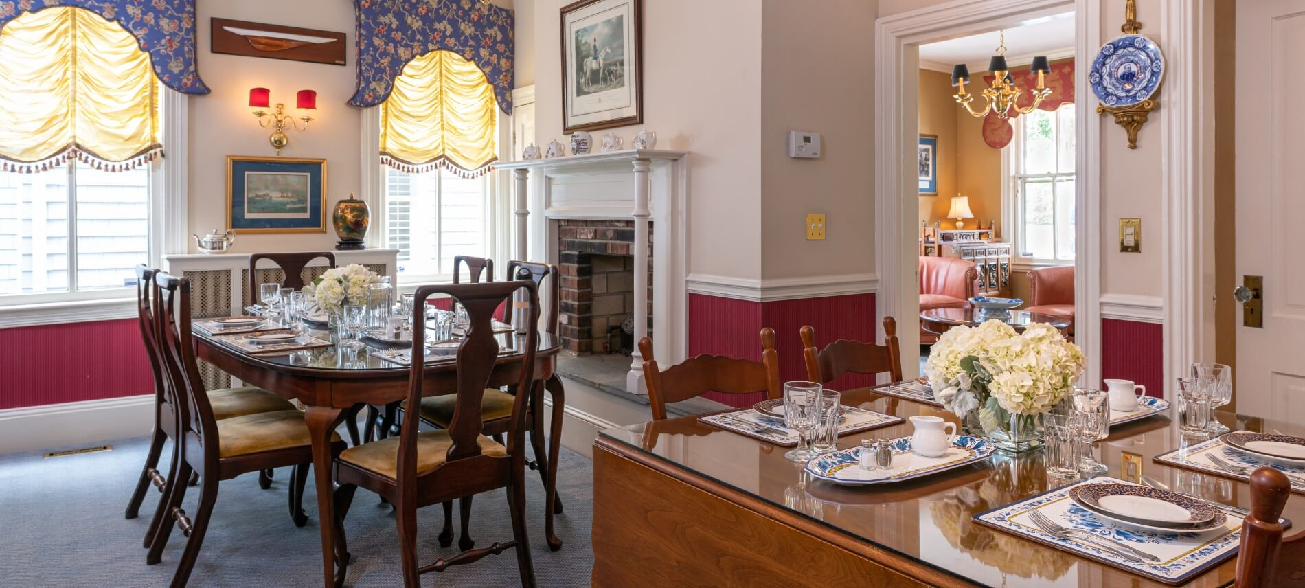 dining room, tables and chairs