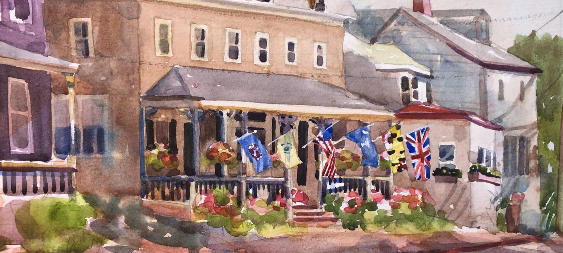 watercolor Flag House Inn