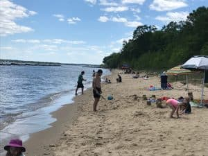 people playing on beach