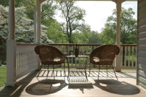 chairs on porch ing the farm