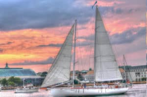large sailboat in Annapolis