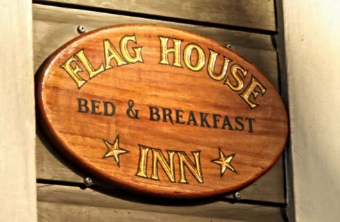 Flag House Inn - sign for bed & breakfast