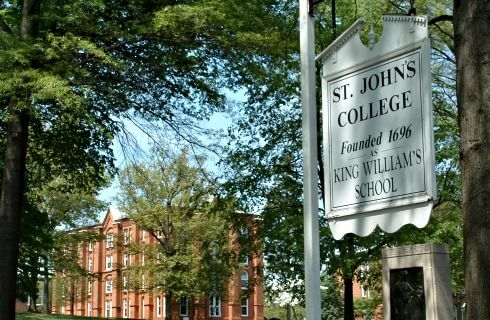 Sign for St Johns College